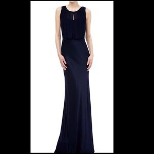 Ghost London Claudia Cowl Back Gown - Navy Blue